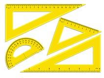 Dreieckmachthaber und -winkelmesser lizenzfreie abbildung