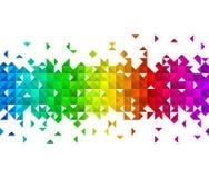 Dreieckmosaikhintergrund Stockfoto