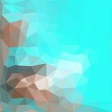 Dreieckmuster von geometrischen Formen bunt Stockfoto