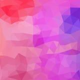 Dreieckmuster von geometrischen Formen bunt Stockfotos