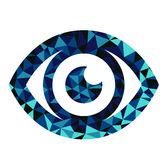 Dreieckmusterentwurf des blauen Auges Stockbild