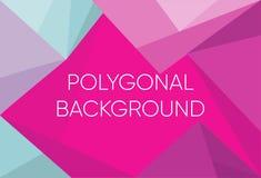 Dreieckpolygon-Musterhintergrund und violette und blaue Farbe der Steigung Blauer purpurroter niedriger Polykristallhintergrund p lizenzfreie abbildung
