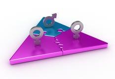 Dreiecksverhältnis Lizenzfreie Stockfotografie