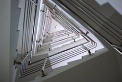 Dreiecktreppenhaus Lizenzfreie Stockbilder