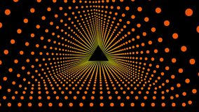 Dreiecktunnel der Zusammenfassung 3D lizenzfreie abbildung