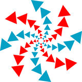 Dreieckzeichen Stockbild