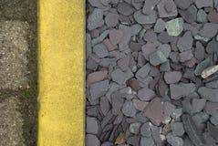 Dreierlei. A three material street detail Stock Images