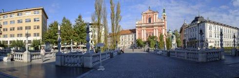 Dreifache Brücke, Ljubljana Lizenzfreie Stockfotos