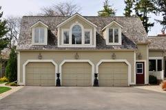 Dreifache Garage Stockbilder