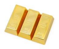 Dreifache Goldstäbe Lizenzfreies Stockbild