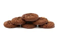 Dreifache Schokoladen-Plätzchen Stockbilder