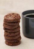Dreifache Schokoladen-Plätzchen Lizenzfreie Stockbilder