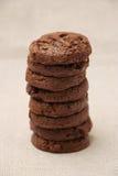 Dreifache Schokoladen-Plätzchen Lizenzfreies Stockbild