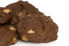 Dreifache Schokoladenkekse Stockbilder