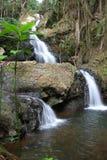 Dreifacher Wasser-Fall-große Insel Hawaii Stockbilder