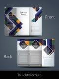 Dreifachgefaltete Broschürendesignschablone Lizenzfreie Stockfotografie