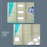 Dreifachgefaltete Broschürenschablone mit Diamantelement Lizenzfreies Stockfoto