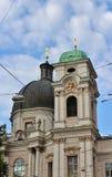 Dreifaltigkeitskirche - kyrka för helig Treenighet, Salzburg fotografering för bildbyråer
