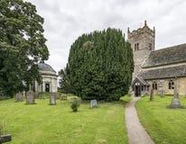 Dreifaltigkeitskirche, wenig Ouseburn, Yorkshire Lizenzfreies Stockfoto