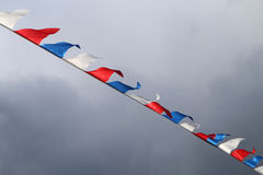 Dreifarbige russische Flagge Lizenzfreie Stockfotografie