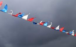 Dreifarbige russische Flagge Stockfoto