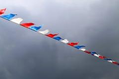 Dreifarbige russische Flagge Stockfotografie