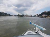 Dreiflà ¼sseeck i Passau Royaltyfria Foton