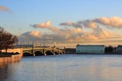 Dreiheitbrücke Stockfoto