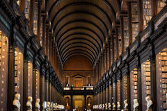 Dreiheits-College-Bibliothek in Dublin Lizenzfreie Stockfotografie