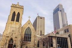Dreiheits-Kathedrale in Omaha, Nebraska Lizenzfreie Stockfotografie