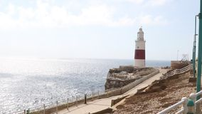 Dreiheits-Leuchtturm, Europa-Punkt, Gibraltar stock video