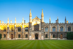 Dreiheitscollegeansicht, Cambridge Stockbilder