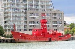 Dreiheitshaus-Feuerschiffschiff 93 Stockfotos