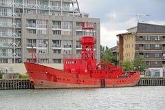 Dreiheitshausfeuerschiff 93 Stockbilder