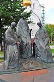 Dreiheitsskulpturzusammensetzung in Yaroslavl, Russland Stockbild