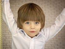 Dreijähriger hübscher Junge Lizenzfreie Stockfotografie