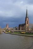 dreik Frankfurt magistrali nigskirche Obraz Royalty Free