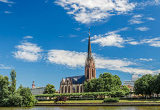 Dreikoenigskirche Church, Frankfurt, Germany Stock Images