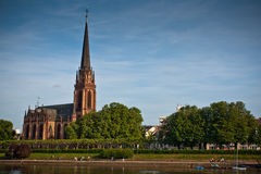Dreikonigskirche - church in Frankfurt, Germany Stock Photo