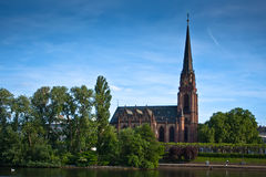 Dreikonigskirche - church in Frankfurt, Germany Stock Image