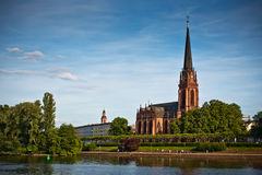Dreikonigskirche - church in Frankfurt, Germany Stock Images