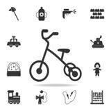 Dreiradikone Ausführlicher Satz des Babys spielt Ikonen Erstklassiges Qualitätsgrafikdesign Eine der Sammlungsikonen für Website, lizenzfreie abbildung