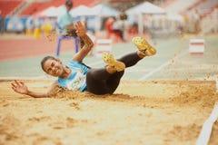 Dreisprung in Thailand Open-athletischer Meisterschaft 2013. Stockbild