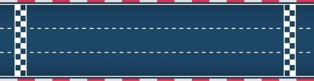 Dreispurige autosport Rennstrecke Motorsport Hintergrund Flache Illustration des Vektors lizenzfreie stockfotos