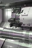Drejbänk CNC-malning Royaltyfri Bild