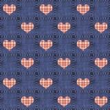 drelichowa serc szkockiej kraty czerwień bezszwowa Obraz Royalty Free