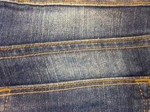 Drelichowa tkanina cajgów tekstura dla tła Zdjęcie Royalty Free
