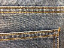 Drelichowa tkanina cajgów tekstura dla tła Zdjęcia Royalty Free