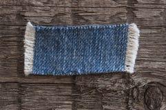 drelichowej pojedynczy tkaniny white ta marka jeansów odizolowane łat tło białe Fotografia Royalty Free