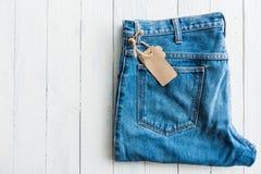 Drelichowy cajgu trouser Fotografia Royalty Free